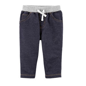 NWT carters jeans pull on drawstring pants 24M